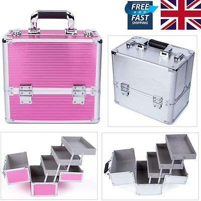 Extra Large Beauty Make Up Case Nail Tech Cosmetic Vanity Storage Jewellery Box