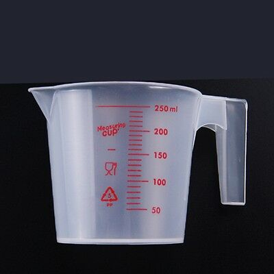 250ml Plastic Clear Measuring Cup Pitcher Handle Pour Spout Baking Kitchen Tools