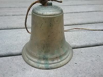 Large Old Brass Bell with a 3 Stamped in the top