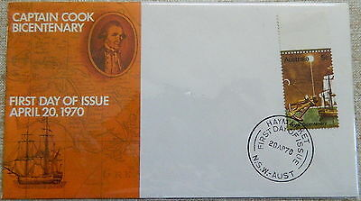 1970 Australia Capt Cook Bicent First Day Issue FDC Unaddressed Small Scarce