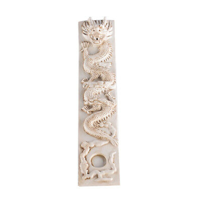 Chinese Style Dragon Design Hand Carved Sculpture Resin Incense Burner Plate