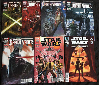 Star Wars lot: Darth Vader #1-5, Star Wars #1, Clone Wars #1 High grade