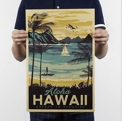 Hawaiian painting class decoration painting / kraft paper poster painting core