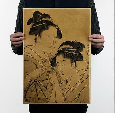 Japan Ukiyo Yi D / retro / kraft paper poster decoration posters