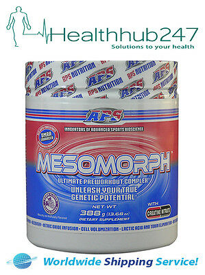 APS Mesomorph ORIGINAL Preworkout Formula  Grape 388gm EXPRESS DEL