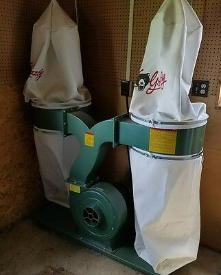 Grizzly 3HP Double Canister Dust Collector Shop Vac System
