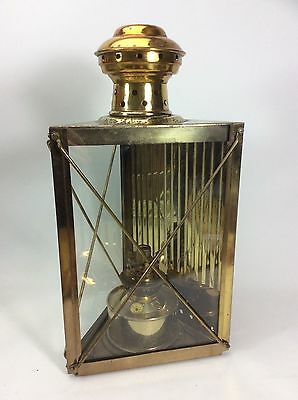 Vintage Ships Lantern Brass Cabin Light Oil Lamp Boat Nautical Maritime Marine