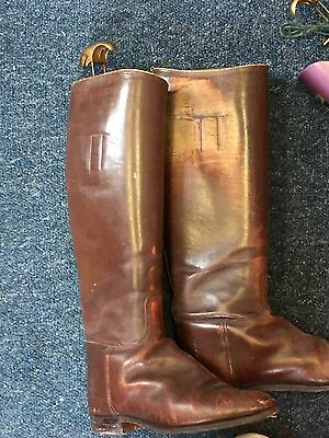 Vintage Brown Leather Ladies Riding Boots