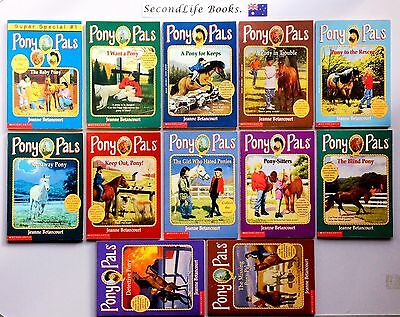 x12 PONY PALS Vintage Book Lot ~ Jeanne Betancourt. Original Series.