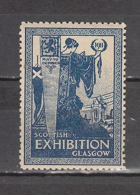 1911 Scottish Exhibition Glasgow Poster Stamp Unmounted Mint Full Gum ( For Cond