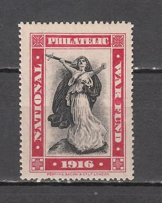 1916 National Philatelic War Fund Poster Stamp Unmounted Mint Full Gum ( For Con