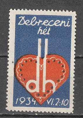 1934 Debreceni Hel Poster Stamp Unmounted Mint Full Gum ( For Condition See Scan