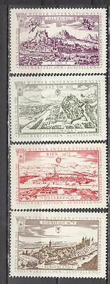 1965 Wiener Internationale Poster Stamps Set Of 4 All Unmounted Mint Full Gum (