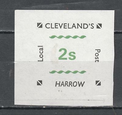 1971 Postal Strike Cleveland's 2s Harrow Local Post Imperf Unmounted Mint Full G
