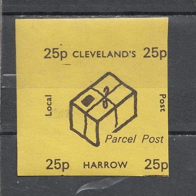 1971 Postal Strike Cleveland's Local Post Harrow 25p Parcel Post Unmounted Mint