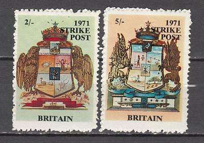 1971 Postal Strike Britain 2s + 5s Unmounted Mint Full Gum ( For Condition Se