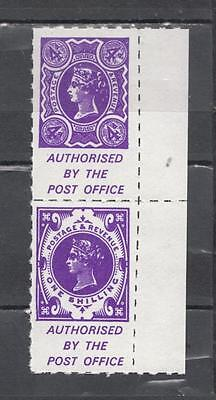 1971 Postal Strike Pair 4d + 1s Authorised By The Post Office Unmounted Mint Ful