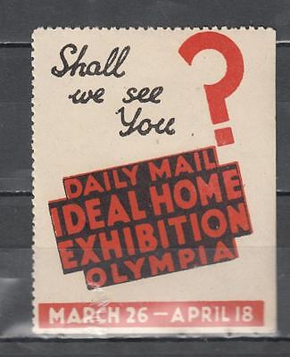 Daily Mail Ideal Home Exhibition Poster Stamp Unmounted Mint Full Gum ( For Cond