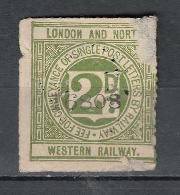 London And North Western Railway 2d Fee For Conveyance Of Single Post Letters By