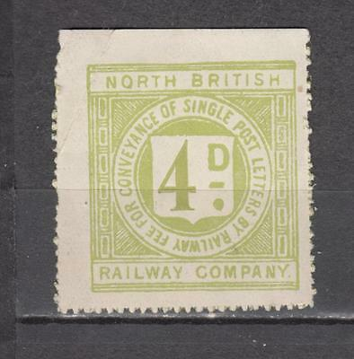 North British Railway Company 4d Letters Fee Stamp Unmounted Mint Full Gum ( For