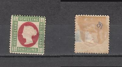Queen Victoria Heligoland 1 1/2 Schilling Mounted Mint Some Gum ( For Condition