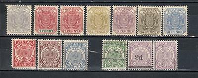 Transvaal ( South Africa ) 1885/95 1/2d To 10s With 3 Overprints 13 Stamps In To