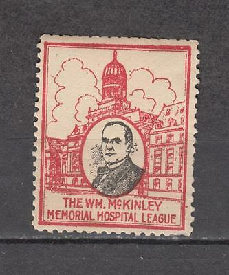 The Wm. Mc.Kinley Memorial Hospital League Poster Stamp Unmounted Mint Full Gum