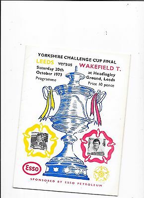 Leeds v Wakefield 20/10/1973 Yorkshire Challenge Cup Final