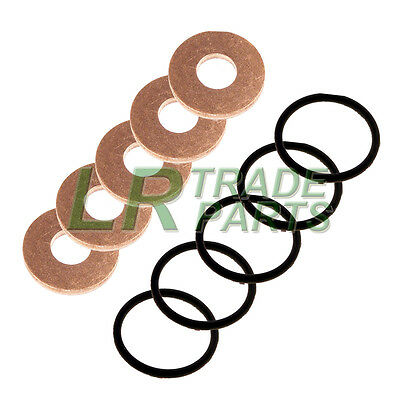 Land Rover Discovery 2 Td5 Genuine Fuel Injector Washers With Oem Seals, O-Rings