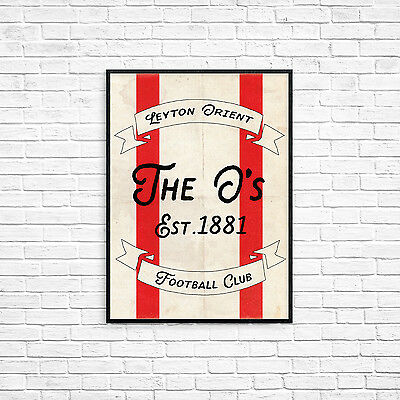 Leyton Orient FC The O's A4 Picture Art Poster Retro Vintage Style Print