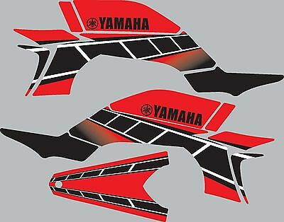 Graphics for 2003-2008 Yamaha YFZ450 YFZ 450 ATV decals stickers Retro Red