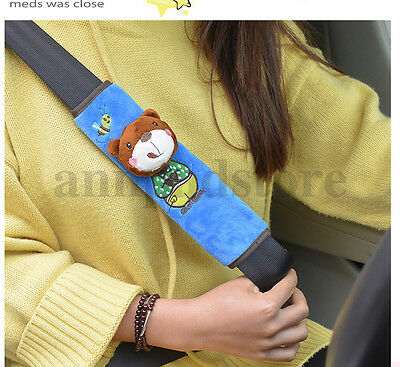 Cartoon Harness Accessory bear Car Safety Seat Belt Shoulder Pad Strap Cover