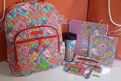 VERA BRADLEY ~~Paisley in Paradise~~Campus Backpack w/Accessories  **NWT**
