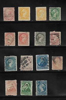 Collection Of Queen Victoria Canada Stamps Used