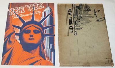 Vintage Antique New York the Wonder City Guide Book Photograph Statue Of Liberty