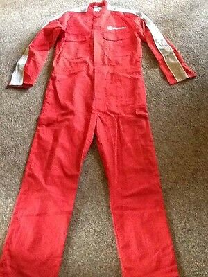 Red Vauxhall Mechanics Overalls Mint Condition Perfect Size 100