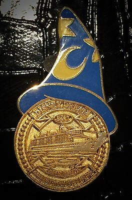 LE DCL Keel Gold Coin Disney Dream Member Cruise Ship Sorcerer Hat DVC Pin RARE