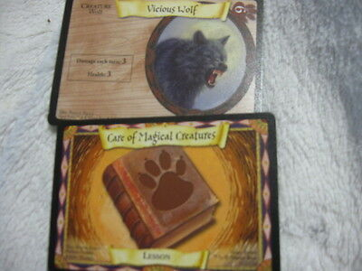 "Mint! Harry Potter Trading Cards! 2 Cards!1Creature & 1 Lesson! H.p.""city""store!"