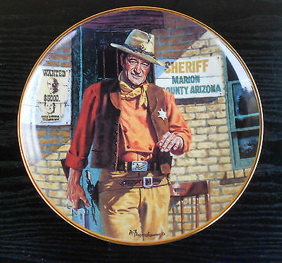 john wayne assiette collection franklin mint