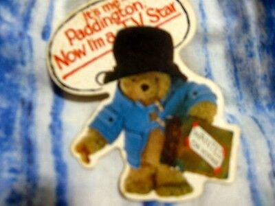 Historical Paddington Bear Sticker From 70's When He Was On Tv 4 The 1St Time!