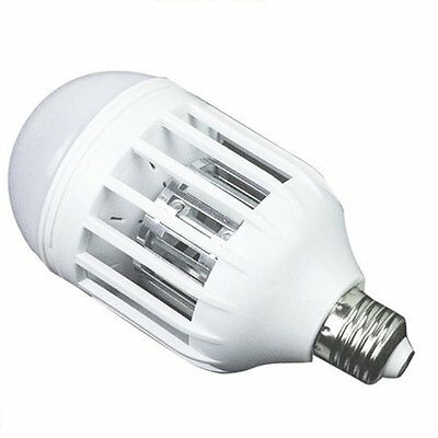 LED Bulb Mosquito Electronic Killer Night Light Lamp Insect Flies Repellent ZG