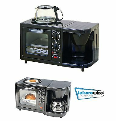 Caravan Motorhome Camping Home 3in1 Combination Oven Grill Griddle Coffee Maker