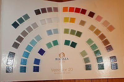 Bisazza Sample Boards Vetricolor Le Gemme Oro Mosaic Glass Tile Fold Out Catalog
