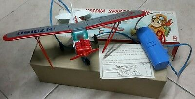 areoplanino in latta filo guidata made japan  cessna sports plane bandal
