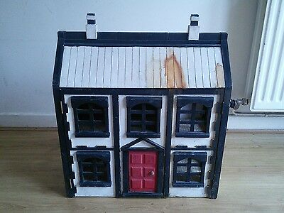 RARE vintage wooden Chad Valley dolls house & furniture for sylvanian families