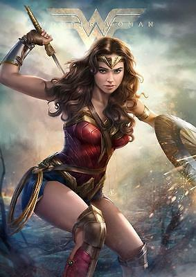 WONDER WOMAN MOVIE POSTER DC Wall Art Pic Photo Poster A3 A4