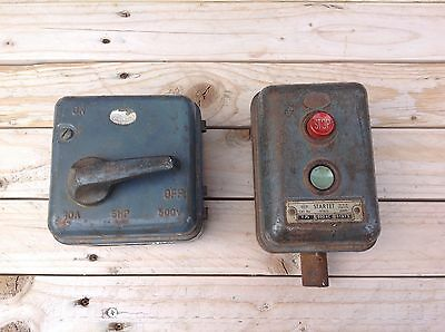 Vintage Eletrical  Industrail Islolators Switches X 2.......