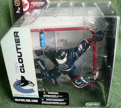 McFarlane NHL SportsPicks Figure Goalie Dan Cloutier Vancouver Canucks NEW Rare