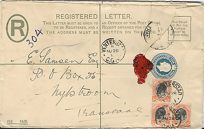 South Africa 1913 KGV Registered Cover Cancelled to Transvaal #1
