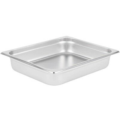 "Restaurant Supplies HALF SIZE STAINLESS STEEL STEAM TABLE FOOD PAN + LID 2"" deep"